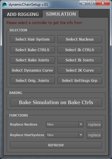 Simulation Tab