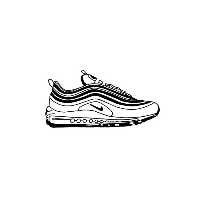 #inktober 028 #graphicdesign #doodles #graphics #industrialdesign #idsketching #shoesketch #nike #sketching #nike