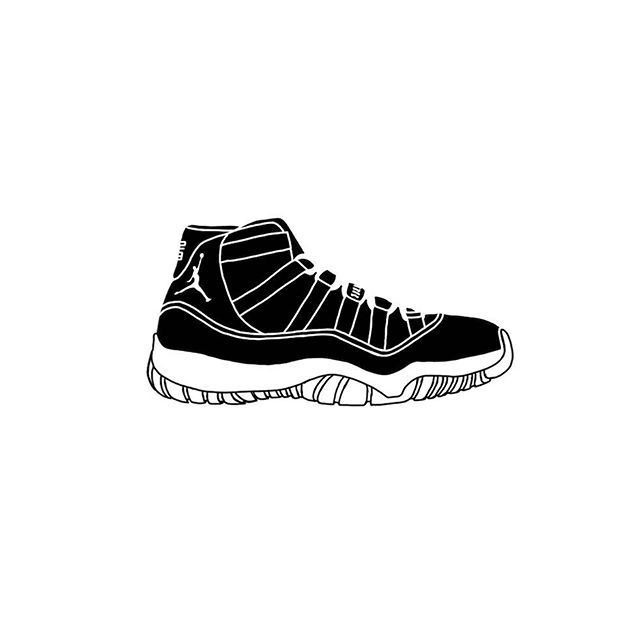 #inktober 030 #nike #airjordan11 #graphicdesign #doodles #graphics #industrialdesign #idsketching #id #illustration #shoesketch