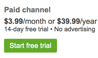 The Pricing for /Drive+. Nice that there is a 14 day trial.