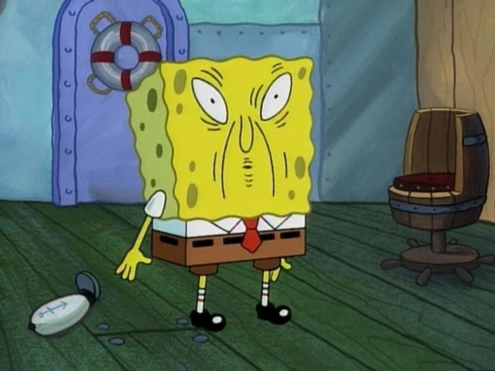 Overdid the sauce again didn't you Spongebob?!