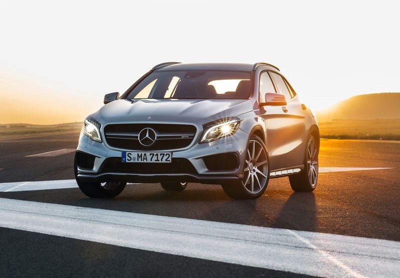 The GLA45 AMG, Mercedes' first example of the new SUV-naming system