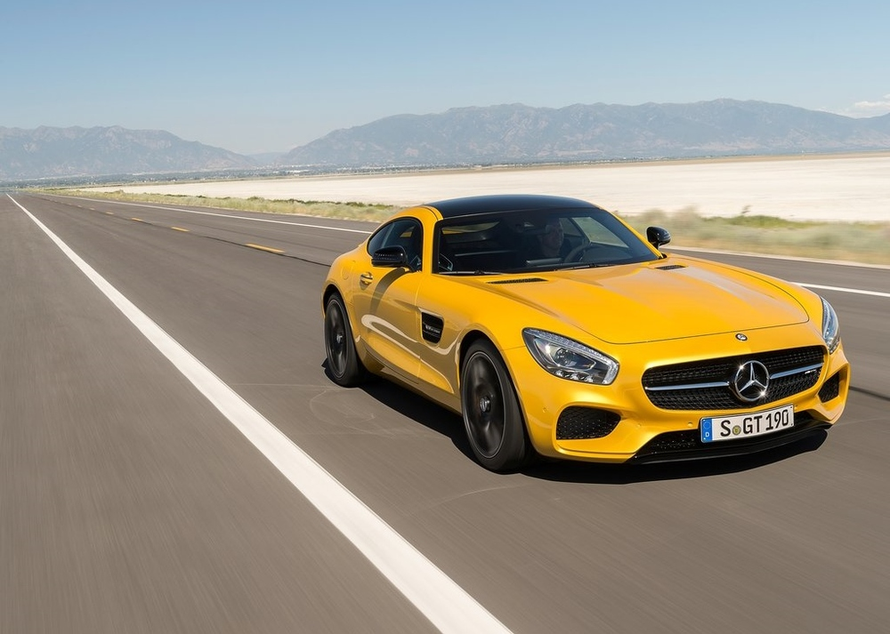A very yellow AMG GT