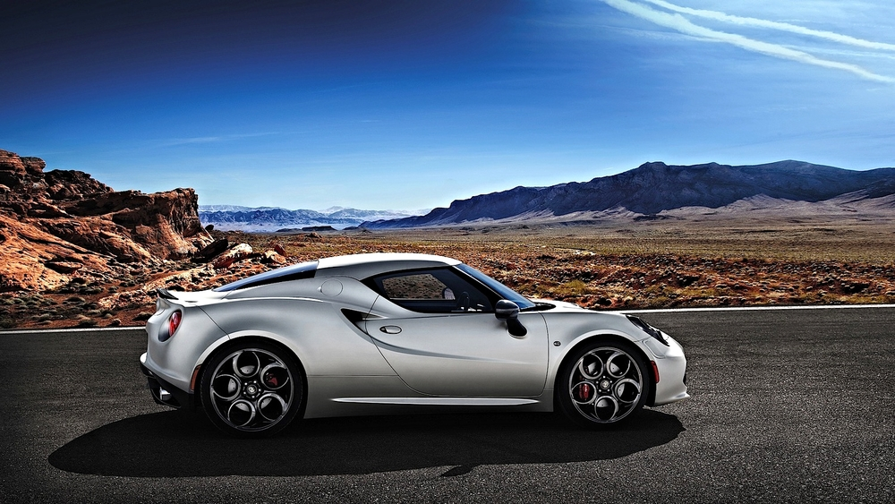 The beautiful Alfa Romeo 4C.