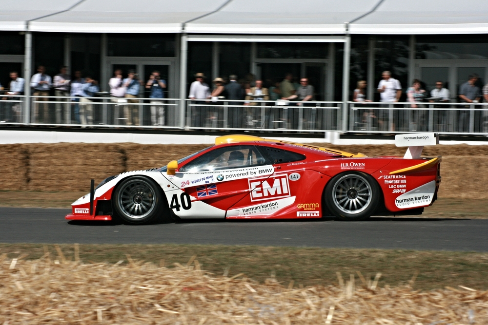The McLaren F1 GTR. Notice how long it is