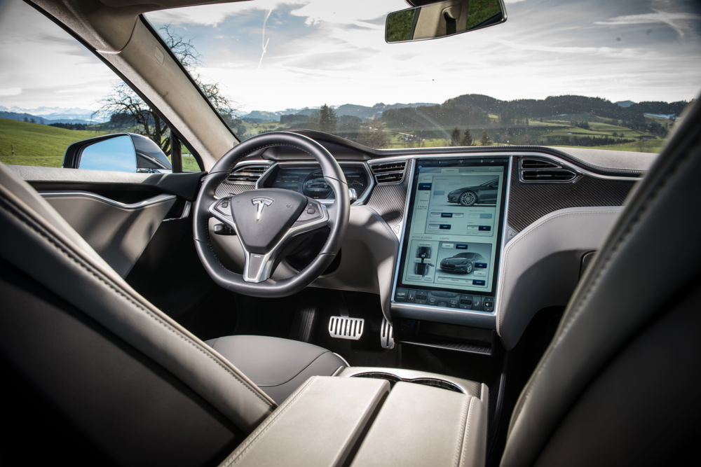 Like a lot of cars today, the Model S's interior is loaded with electronic goodies...which use electricity...which effects the range.