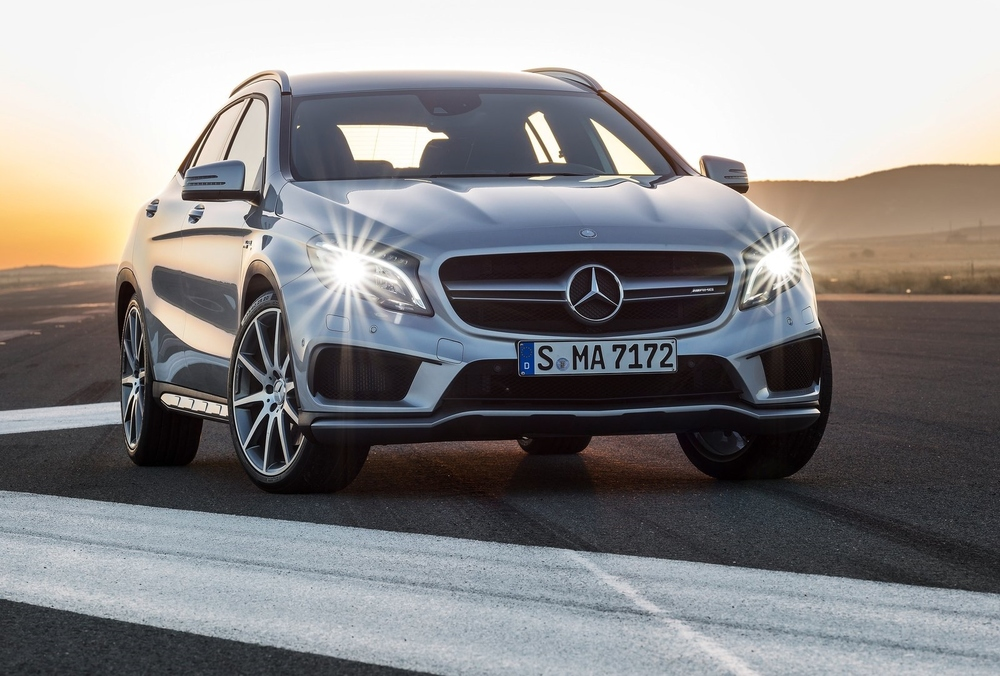 The GLA45 AMG: perfect for taking the kids to school (at 158 miles per hour)