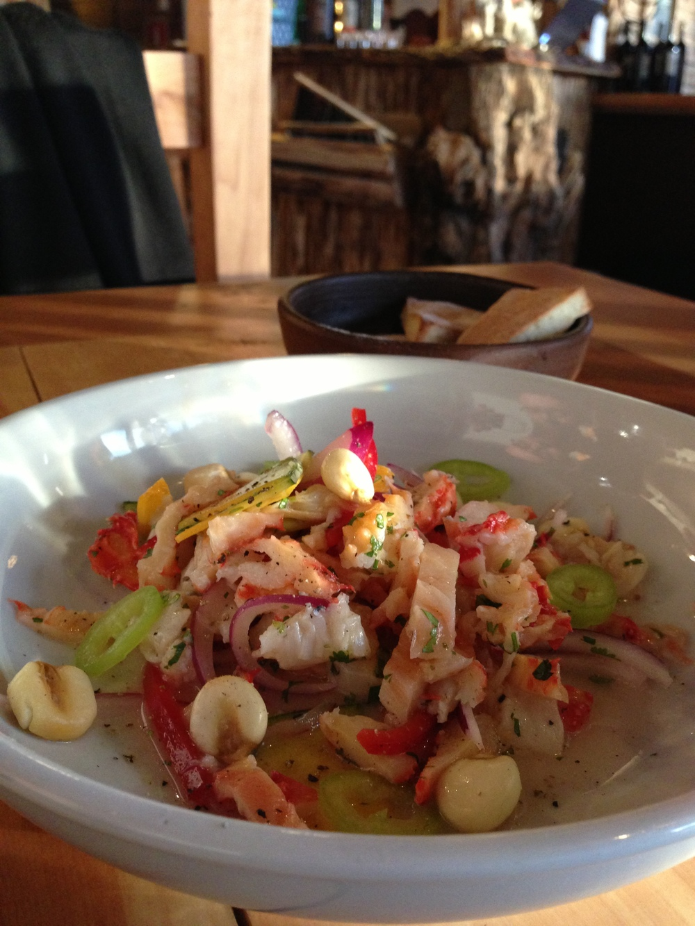 Chilean King Crab Ceviche Salad with Andes Corn