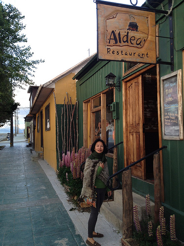 Irene at Aldea Restuarant in Chile