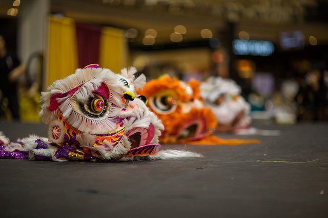 Lion Dance symbolizes durability and wealth. (photo by  IQ Remix )