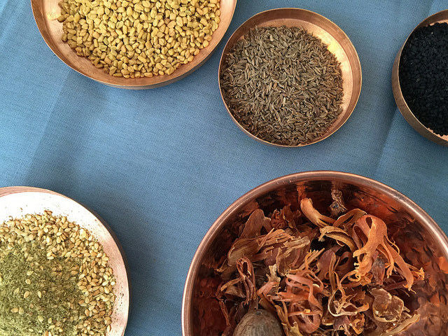 Allspice: zataar, mace, nigella and fennel