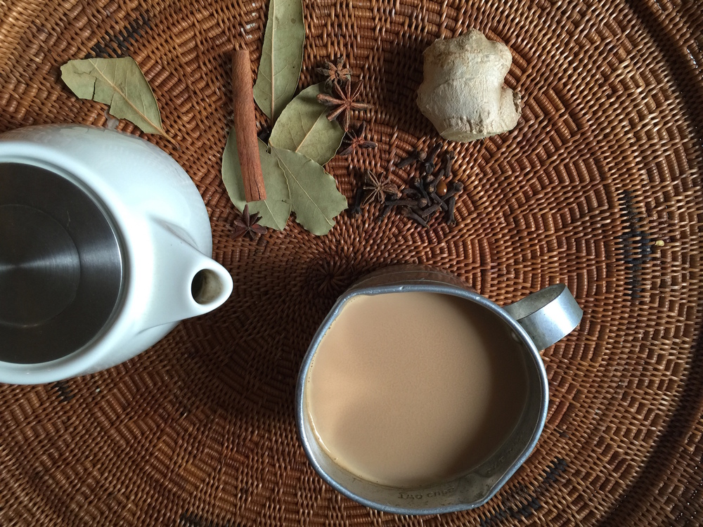 Warm Chai  Tea  with Spices