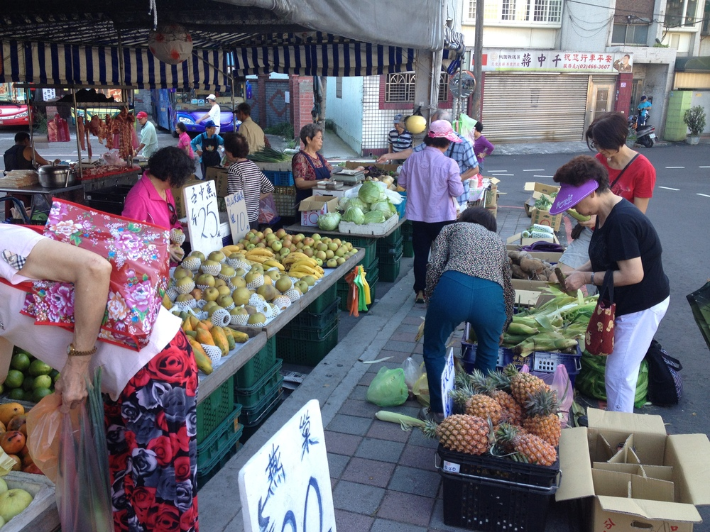 Fresh fruits and veggies. Taiwan has amazing fruit.