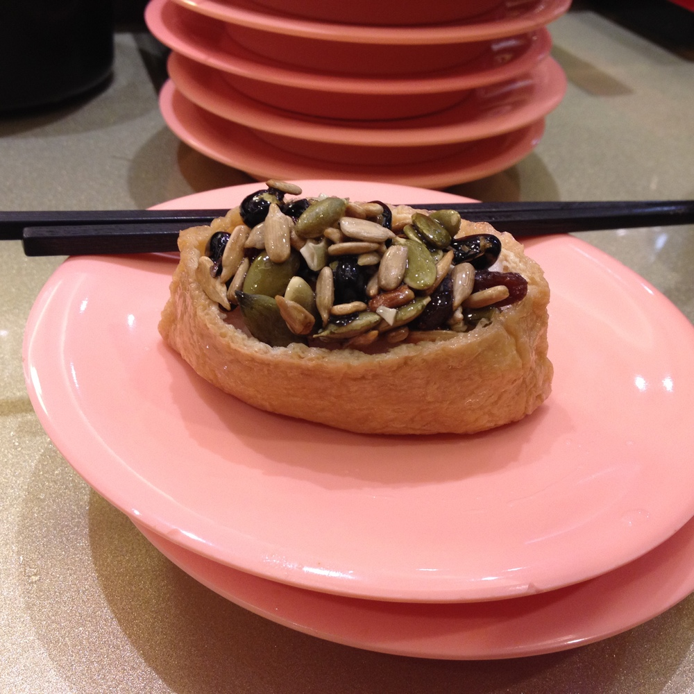 Surprisingly, my favorite dish was Inari with a bunch of nuts and seeds on top. It was a delightful combination of crunchy and soft, sweet and salty.