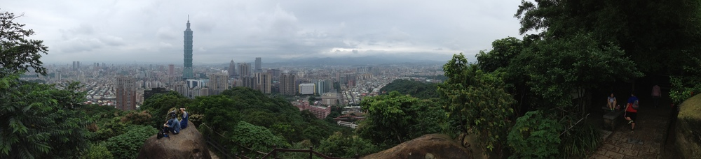 A view of Taipei from Elephant Mountain.