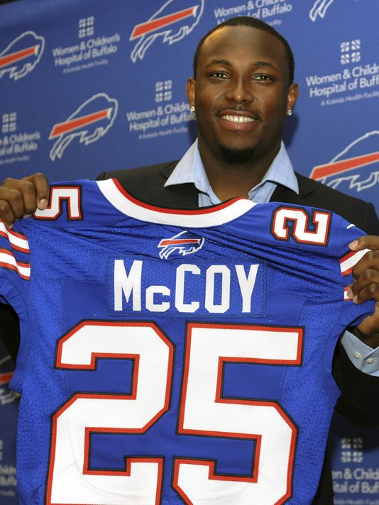 Former Philadelphia Eagle LeSean McCoy may struggle a bit going from one of the best lines in the league to one of the worst.