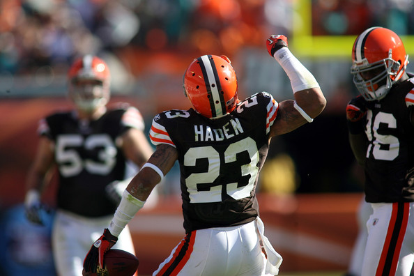 CB Joe Haden is elite at shutting down opposing receivers but the Browns still can't stop the run.