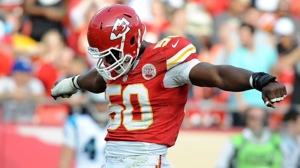 OLB Justin Houston's +37.6 pass rush grade was second best in 2014.
