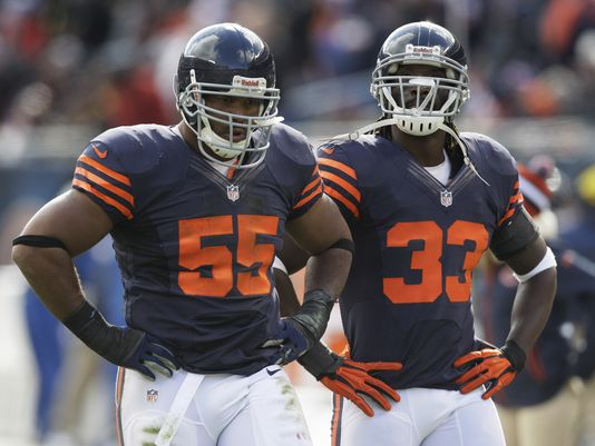 After 12 seasons, LB Lance Briggs and CB Charles Tillman finally say farewell to Chicago. Both are former All-Pros and they have 9 Pro Bowl appearances between them.