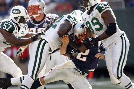 Tom Brady gets rid of the ball as fast as any in the NFL. But even he might struggle against the stacked D-lines of the AFC East.
