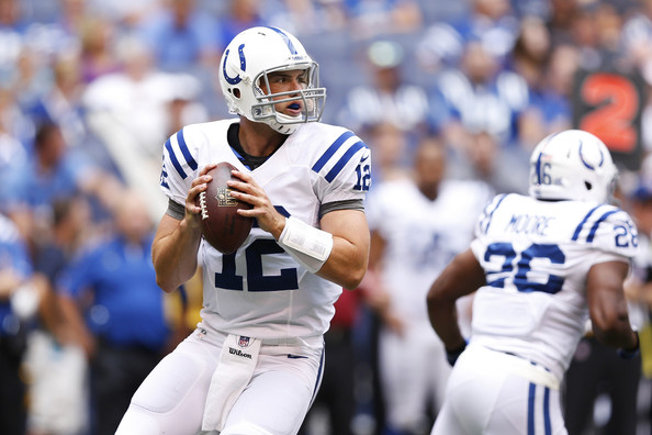 Luck might be worth drafting in deeper leagues due to the uncertainty of QBs later on.