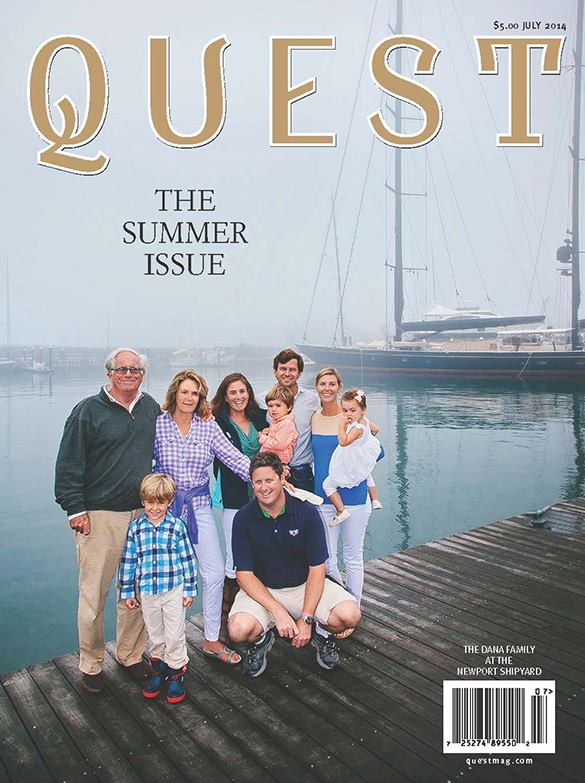 The Dana family featured on the cover of July 2014  Quest  Magazine.