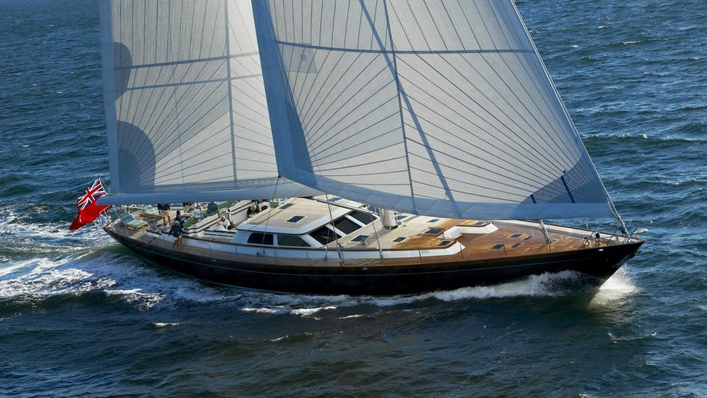 The 116-foot sloop   Whisper   will be participating in the 2015 Newport Charter Yacht Show. (Photo Courtesy of Whisper Yacht)