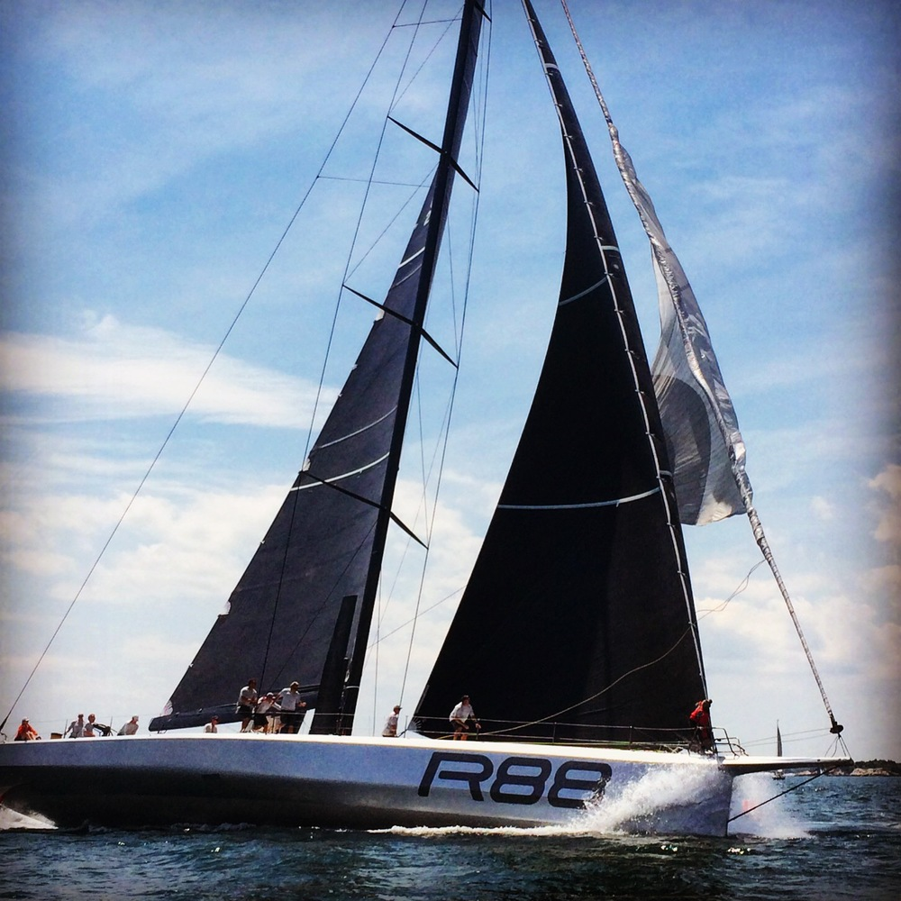 George David's  Rambler 88  racing at the NYYC Annual Regatta