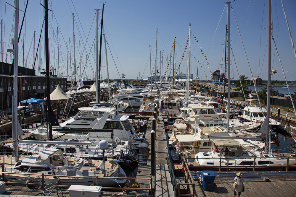 The Newport Brokerage Boat Show is held annually each September at Newport Shipyard concurrent with the Newport International Boat Show.