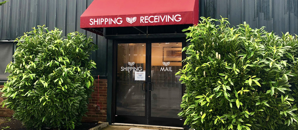 The Shipping & Receiving Office is located on the East side of the building.