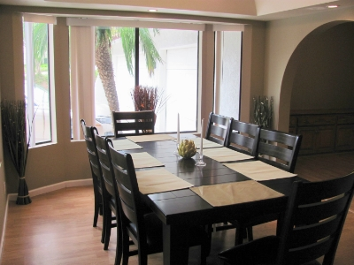 Clients start their morning by having healthy nutritious breakfast at  Sunny Dining Room.
