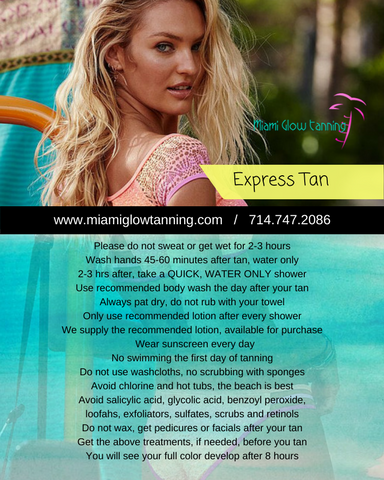 EXPRESS TAN - Got somewhere to go?  Try the express.