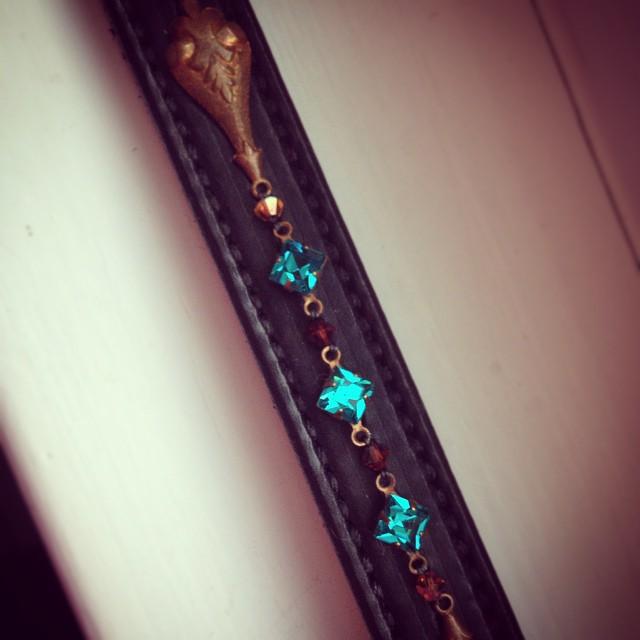 Vintage brass & crystals, $275