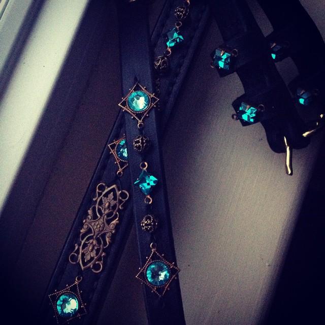 Matching Set: Browband, Bracelet, Spur Straps