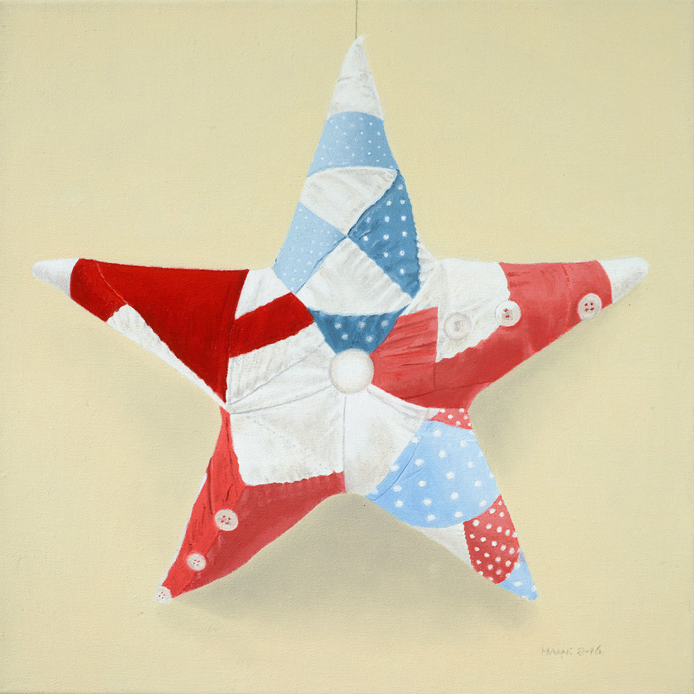 Quilted Star-  Sold