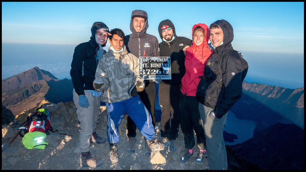 The crew from the top of the mountain