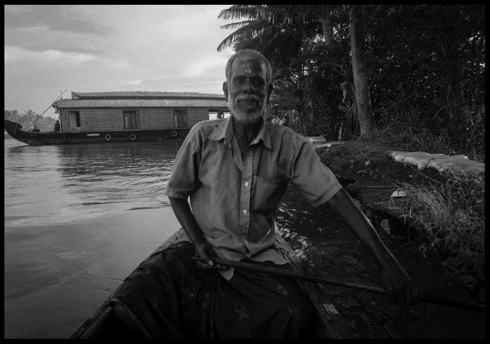 Our local village canoe guide.