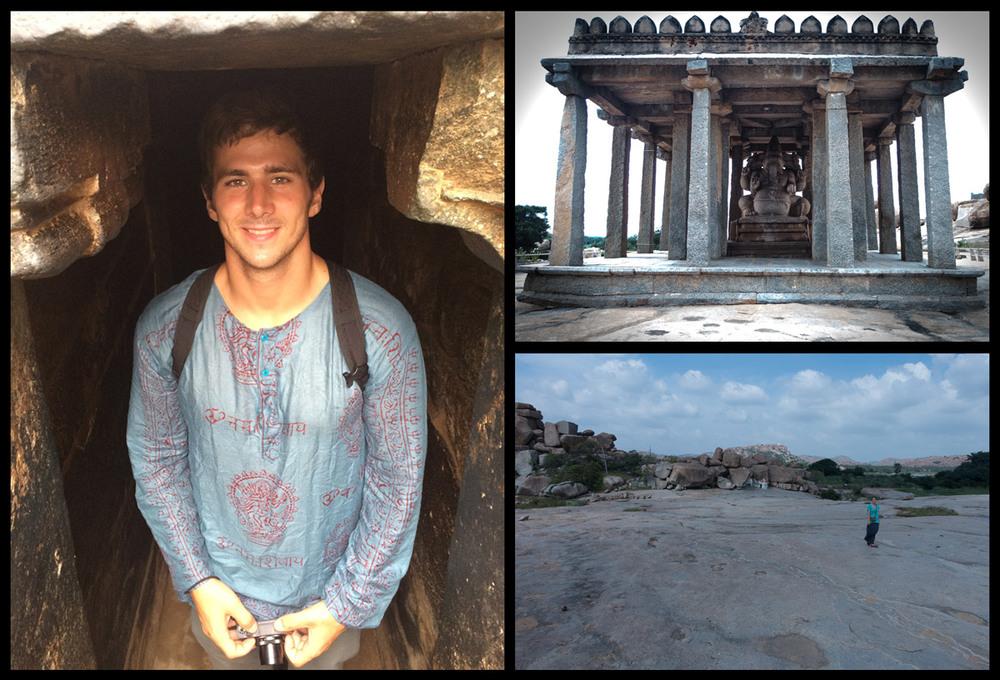 Underground temple, Ganesha temple, and one gigantic granite slab!