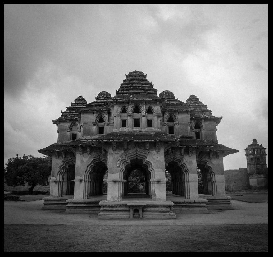 The Lotus Mahal.