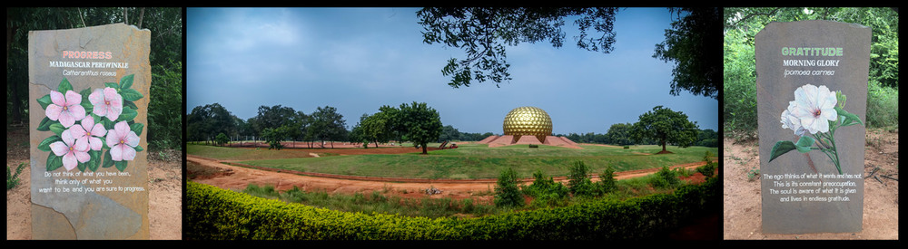 The Matramandir Structure, heart of Auroville. Only a select few may enter and achieve ultimate concentration.