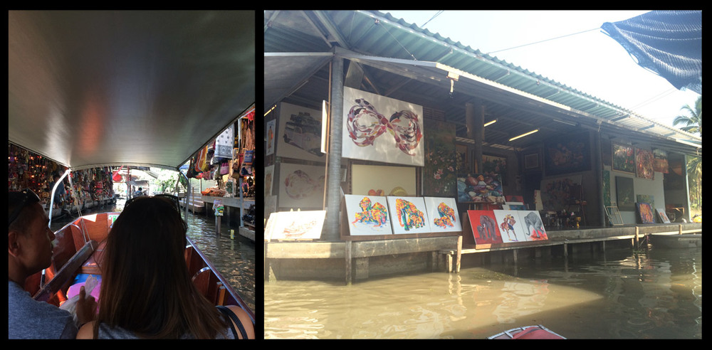 Floating Markets in Bangkok.