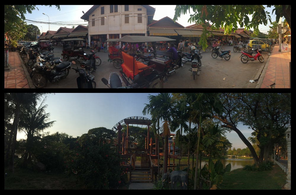 The cute town of Siem Reap.