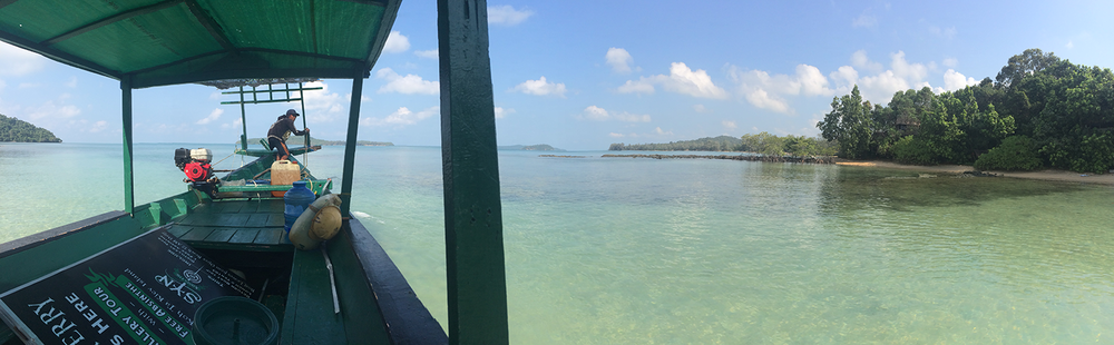 The boat ride back to civilization.