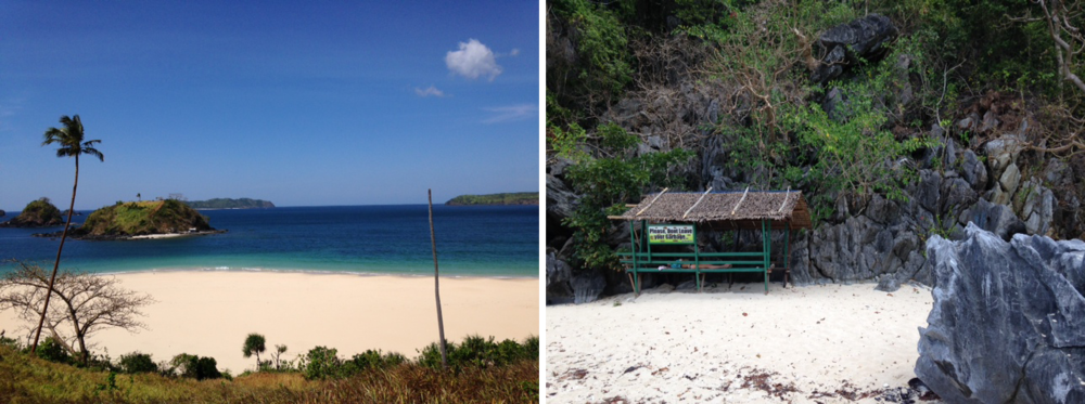 Right: A sweet little shack we found on a small island while kayaking.