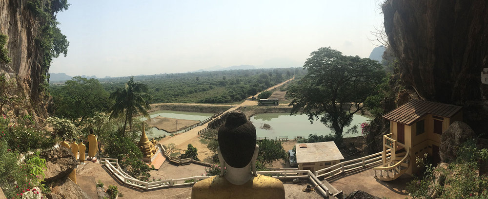 The view from one of the cave temples!