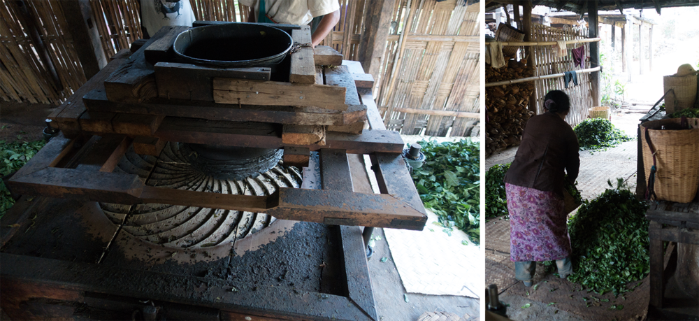 The tea grinder. We watched the whole process from steaming the tea, to grinding, to drying.