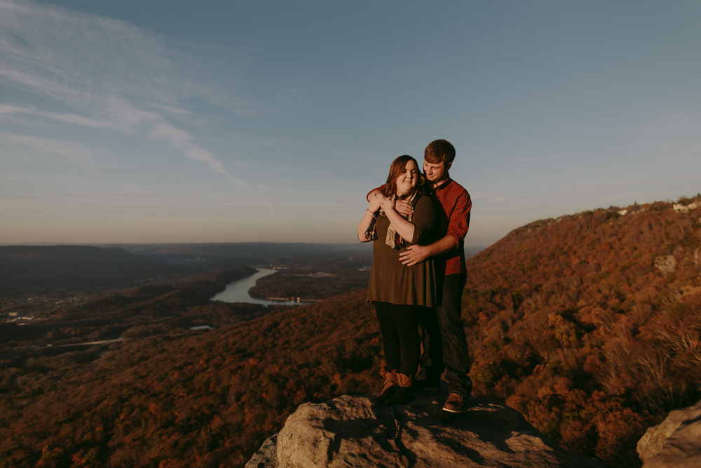 Sunset Rock Chattanooga Proposal Engagement Photos Photography Anthology (11 of 19).jpg