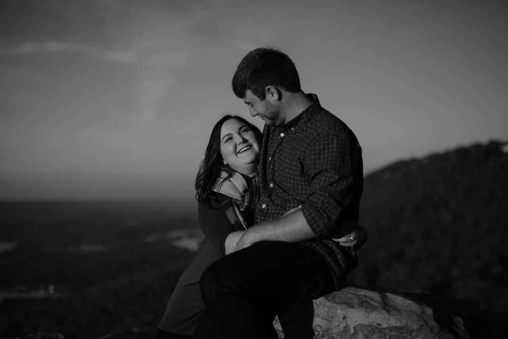Sunset Rock Chattanooga Proposal Engagement Photos Photography Anthology (12 of 19).jpg