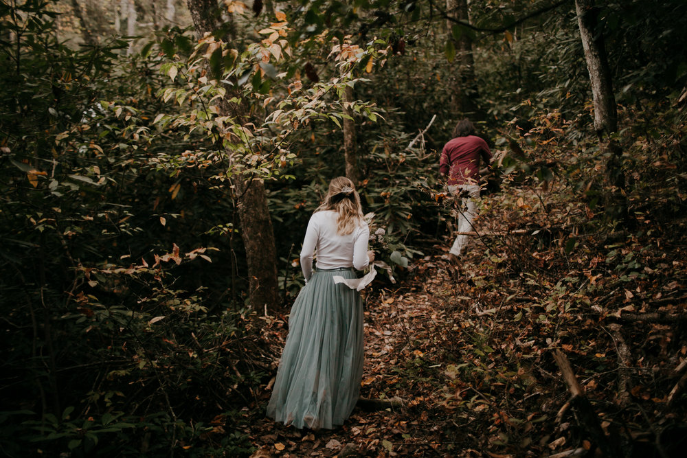 Photography Anthology - Asheville Elopement Engagement Photos In The Mountains Fall Waterfall (3 of 5).jpg
