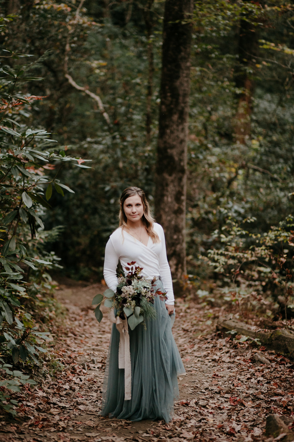 Photography Anthology - Asheville Elopement Engagement Photos In The Mountains Fall Waterfall (23 of 33).jpg